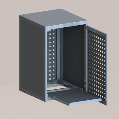 Mülltonnenbox klein in RAL 7016 anthrazit