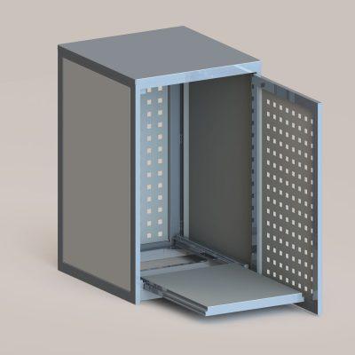 Mülltonnenbox klein in RAL 9007 graualuminium